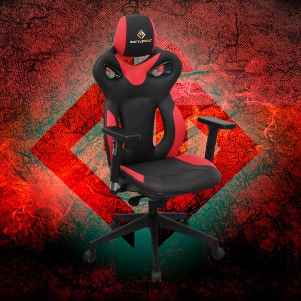 Silla Gaming Quake de BattleSeat Roja y Negra